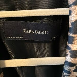 Zara basic animal print blazer